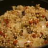 Fast and Substantial: Pearl Couscous Pilaf with Dried Tomatoes